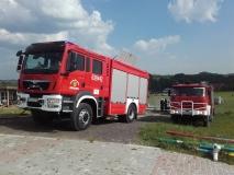 Pożar stadniy w Zbrosławicach