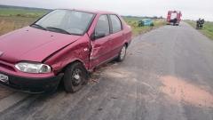 wypadek na drodze między Łubiem a Księżym Lasem